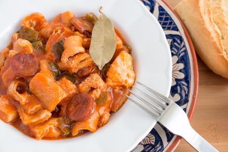Spanish beef tripe dish called  callos
