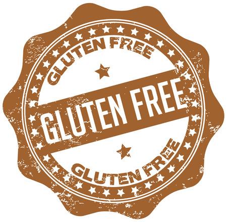 gluten free stamp 向量圖像