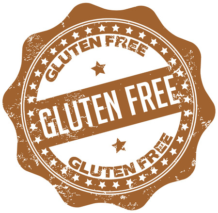 gluten free stamp Vettoriali
