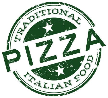 mozzarella cheese: pizza stamp