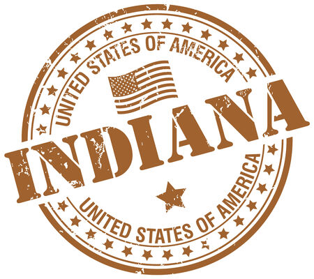 indianapolis: indiana stamp Illustration
