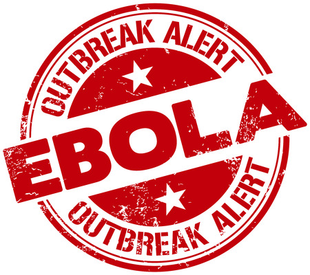 ebola: ebola alert stamp Illustration
