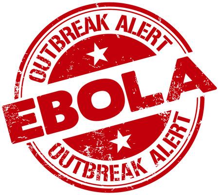 alerta: ebola sello de alerta Vectores