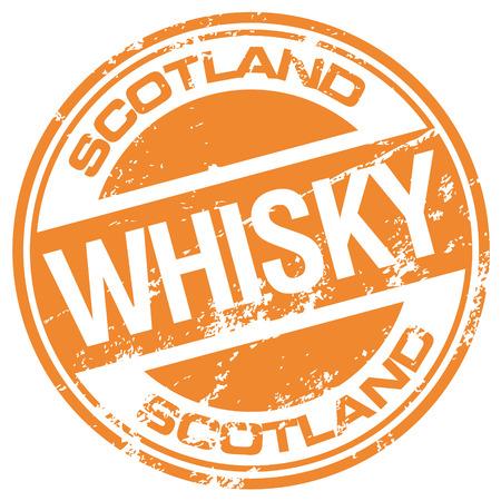 whisky: whisky stamp Illustration