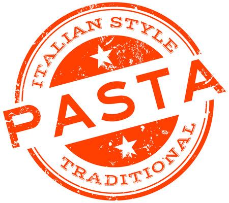 italian style pasta stamp Ilustracja