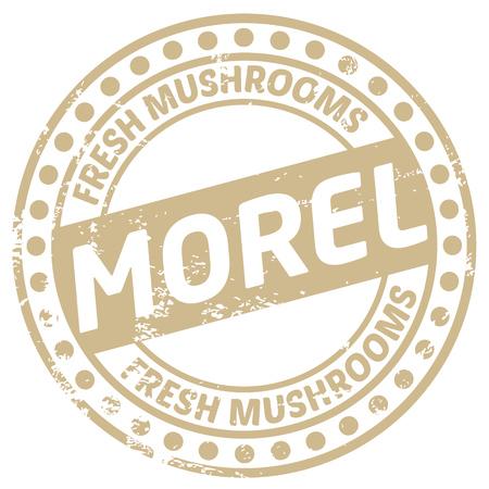 morel: morel mushroom stamp Illustration