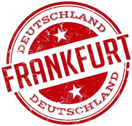 frankfurt stamp Vector