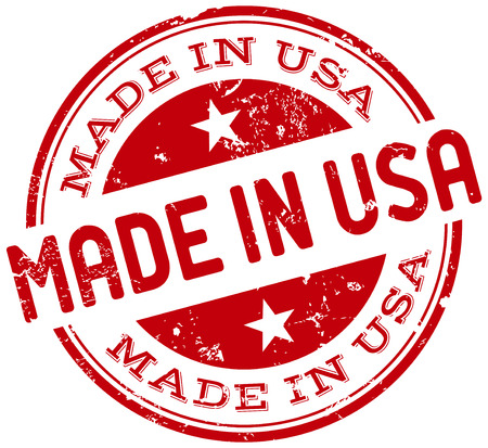 import trade: made in usa stamp Illustration