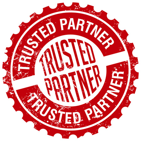 trusted: trusted partner stamp Illustration