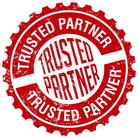 vertrouwde partner stempel Stock Illustratie