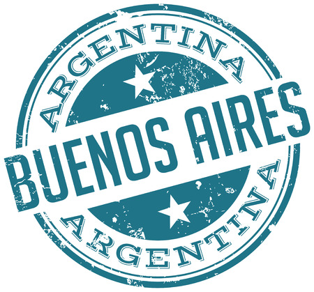 aires: buenos aires stamp Illustration