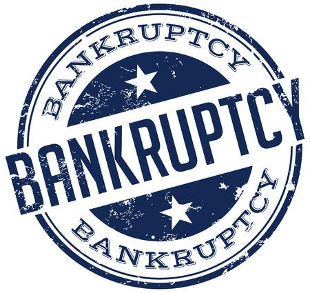 bankruptcy: bankruptcy stamp Illustration
