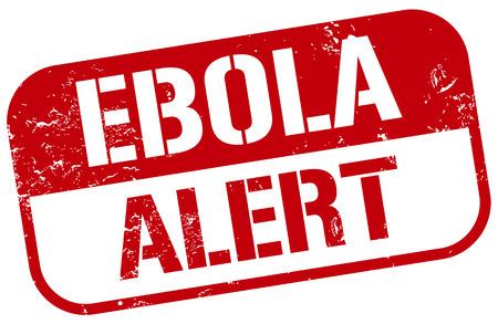 viral infection: ebola virus alert stamp