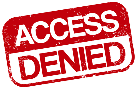 access denied stamp Ilustrace
