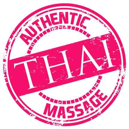 masseuse: thai massage stamp Illustration