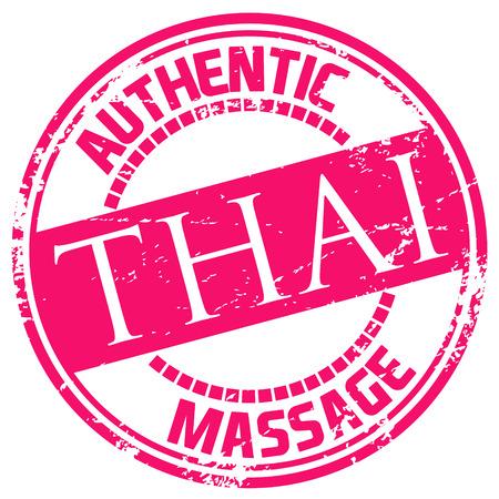 thai massage stamp 向量圖像