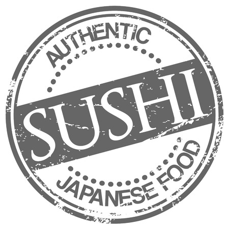 sushi stamp Vector