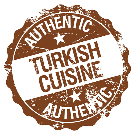 turkish cuisine stamp Vector