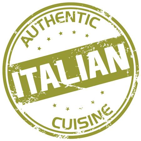 イタリア料理スタンプ  イラスト・ベクター素材