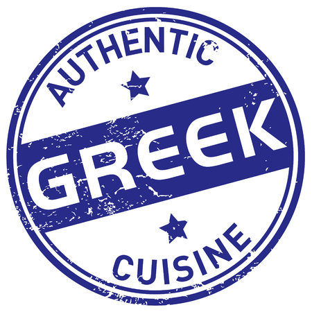 greek cuisine stamp Vector