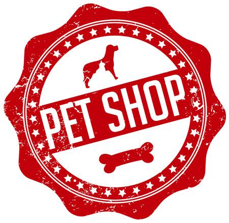 pet shop seal Illustration