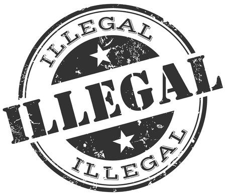 organised: illegal stamp