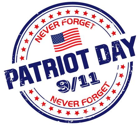 world trade center: patriot day stamp Illustration