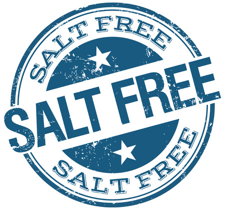 salt free: blue salt free stamp Illustration