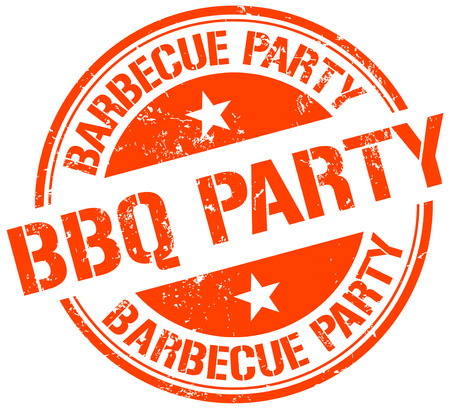 party: bbq party stamp