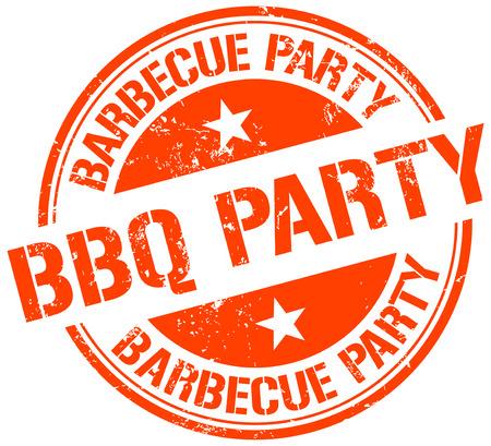 Znaczek BBQ Party Ilustracje wektorowe