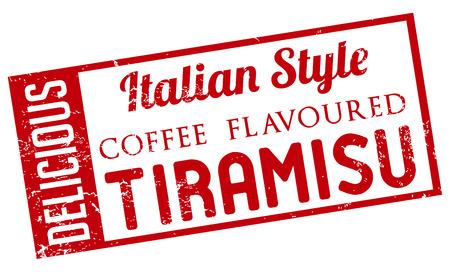 italian style tiramisu stamp Vector