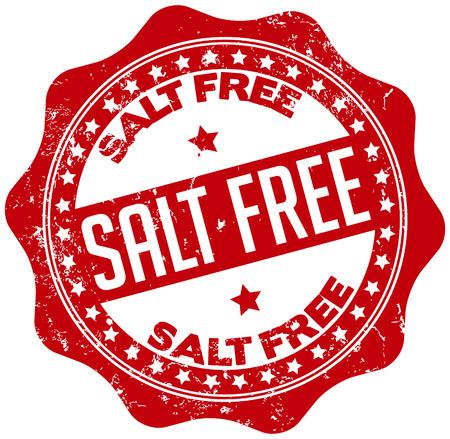 salt free: salt free seal Illustration