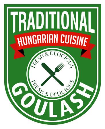 hungarian goulash label