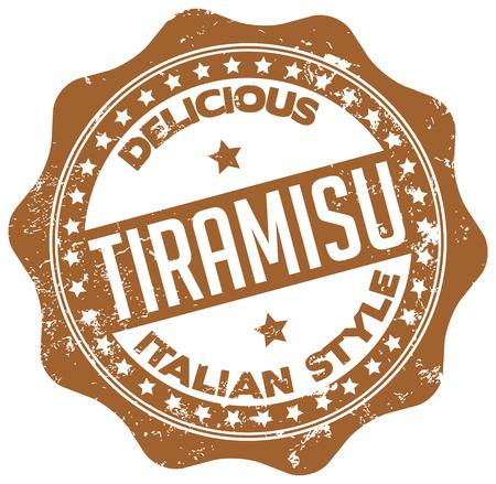 delicious tiramisu stamp Vector