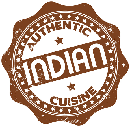 indian food: indian cuisine stamp