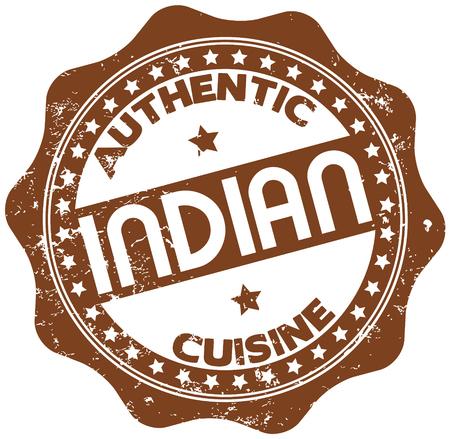 india food: indian cuisine stamp