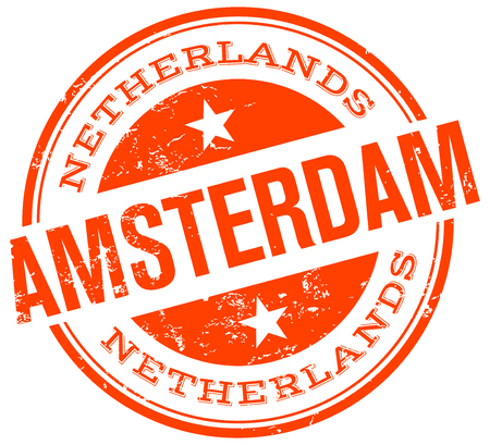 amsterdam stamp Vector