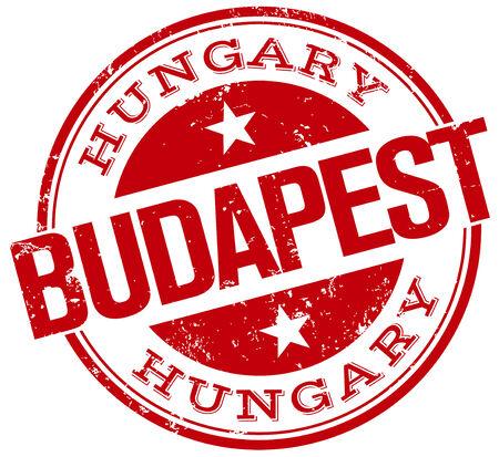 budapest stamp Stock Illustratie