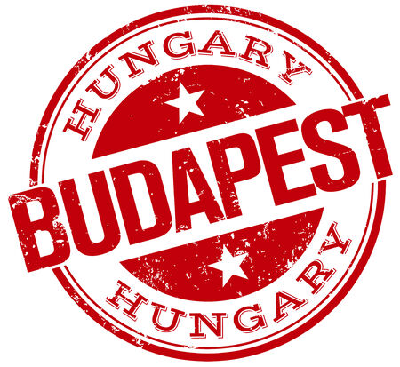 magyar: budapest stamp Illustration
