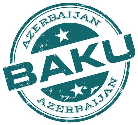 azerbaijan: baku stamp Illustration