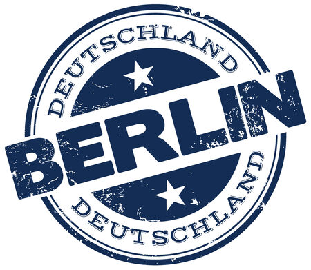 berlin stamp Vector