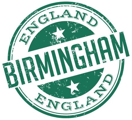 birmingham: birmingham stamp Illustration