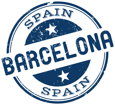 barcelona: barcelona stamp