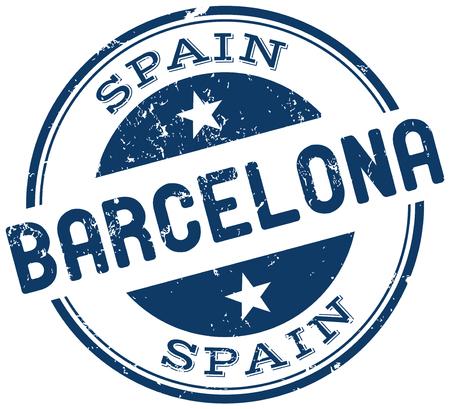 barcelona stempel Stock Illustratie