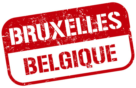 bruxelles stamp Vector