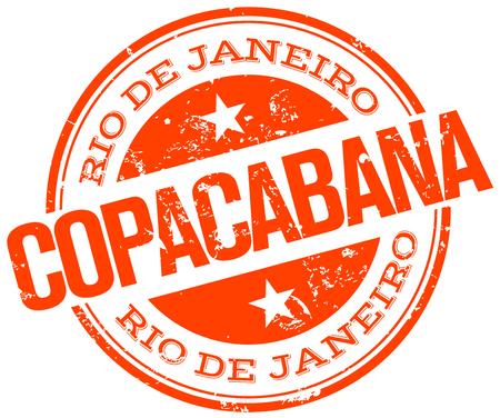 copacabana stamp Vector