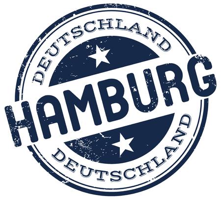 hamburg: hamburg stamp Illustration