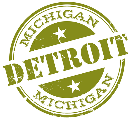 detroit stamp Vector