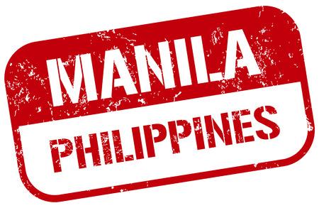 manila: manila stamp Illustration
