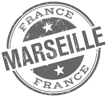 marseille stamp Ilustração